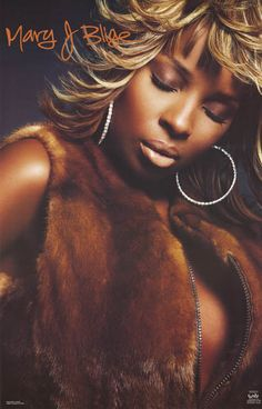 Mary J Blige Quiet Soul Portrait 2002 Music Poster 22x34