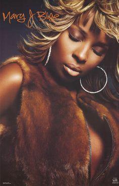 Mary J Blige Quiet Soul Portrait 2002 Music Poster 22x34