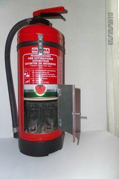 fire extinguisher to hide your favorite bottle hot stuff for him pinterest alcohol bottles. Black Bedroom Furniture Sets. Home Design Ideas