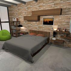 I colori della camera da letto in stile metropolitano
