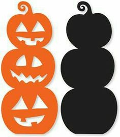 Silhouette Design Store: stacked pumpkins - Miriam Andrews Photo Page Halloween Vinyl, Holidays Halloween, Halloween Crafts, Halloween Decorations, Moldes Halloween, Adornos Halloween, Manualidades Halloween, Silhouette Clip Art, Silhouette Cameo Projects