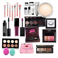 """Makeup Haul  "" by miadoyle000 on Polyvore featuring beauty, Bdellium Tools, Edward Bess, NYX, Smashbox, Illamasqua, Forever 21, NARS Cosmetics, Bobbi Brown Cosmetics and MAC Cosmetics"