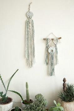 Set of two Wall tapestrySmall Macrame Wall Hanging by NomaMacrame