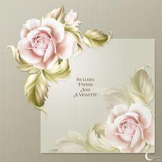 Moonbeam's Vintage Bloom (FS/CU) [Moonbeam's Vintage Bloom] : Scrap and Tubes Store, Digital Scrapbooking Supplies 1. Tag, Scrapbook Supplies, Paper Background, Digital Scrapbooking, Stencils, Bloom, Rose, Offset Printing, Projects