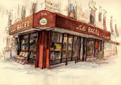 Urban Sketchers: Two from Nostrand