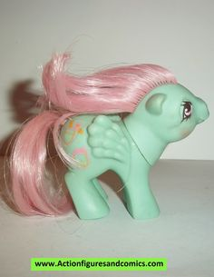 Hasbro MY LITTLE PONY G1 vintage action figure toys 1988 - 1989 BABY POCKETS Condition: Overall excellent. Nothing broken or damaged. Nice paint detail; very minor shelf wear only. figure size: 3 inch --------------------------------------------------------------- Click the image below to check out the entire Hasbro My Little Pony action figure collection Stock up and save big on combined shipping