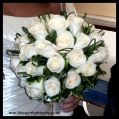 Formal Modern Romantic White Bouquet Fall Spring Summer Winter Wedding Flowers Photos & Pictures - WeddingWire.com