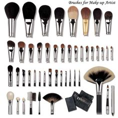 cosplayqna:  Makeup Brushes: Types, uses, and need to knows Image, Source 1, Source 2 When starting to learn about makeup and how to apply, the idea of the amount of brushes and sponges available can be overwhelming. Here's a rundown of