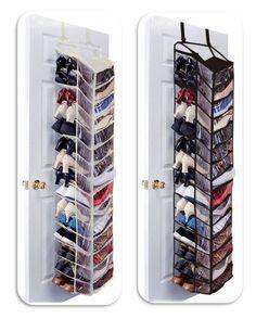 30 Pair Over The Door Hanging Shelf Shoe Rack Storage Stand Organiser Holder