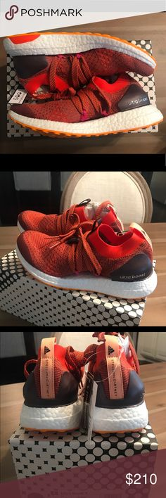 New Adidas Ultra Boost X by Stella McCartney Brand New Adidas Ultra Boost X by Stella McCartney  Color Clay Red / Radiant Orange / Apricot Rose Never worn, comes with box 100% authentic Size 6.5 Women Adidas by Stella McCartney Shoes Sneakers