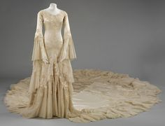Must get to see this exhibition at the VA - Wedding Dresses 1775 - 2014 . Including this - 'Silk satin wedding dress, designed by Norman Hartnell, 1933, given and worn by Margaret, Duchess of Argyll. © Victoria and Albert Museum, Lo...'