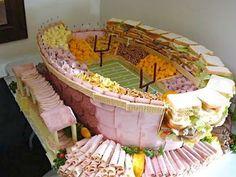 Football stadium made of food!!!