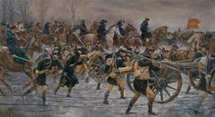 Victory or Death, Washington leads his army towards Trenton, NJ on the morning of December 26, 1776. By Don Troiani