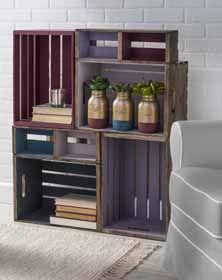 Craft Painting - DIY Wood Crate Shelf Unit
