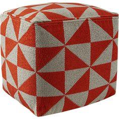vane knitted pouf  | CB2