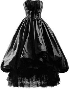 Vestido de noche en tafetán de seda de color negro. 1952 Ca.  Perteneció a doña Niki Stifel.