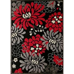 This Urban Trends Maya red area rug is hand-carved to highlight the beautiful modern pattern and add surface texture. Rich colors of red, black, grey and white will complement both transitional and contemporary room settings.