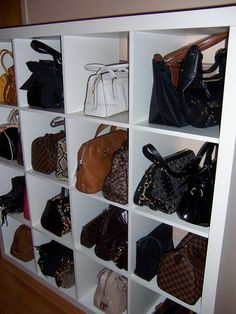 Love This Handbag Storage Idea! Think Iu0027ll Just Go Buy The Cube Storages  And Stick It In My Closet For My Purses!