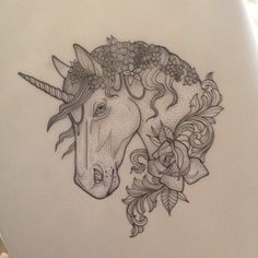 Unicorn Tattoo by Medusa Lou Tattoo Artist - medusaloux@outlook.com