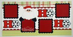 ELITE4U Lisa Premade Scrapbook Pages Paper Piecing Santa Christmas Boy Girl Hoho | eBay