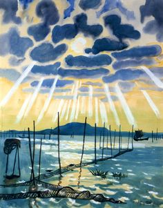Large Net  Hermann Max Pechstein - 1930 He certainly liked his clouds.Love the detail in black.really fine-almost subtle-almost realist.