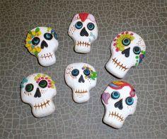 polymer clay sugar skulls!