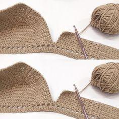 Crochet bikini top crochet bralette by LostATLANTIShandmade Crochet Bra, Crochet Bikini Pattern, Crochet Halter Tops, Crochet Bikini Top, Crochet Woman, Crochet Blouse, Crochet Clothes, Crochet Patterns, Crochet Bodycon Dresses