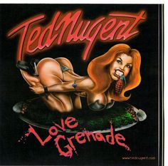 Ted Nugent Love Grenade Cd Release Sticker For Tour Road Cases Given Out To Crew