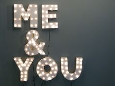 me & you #quote #light #display