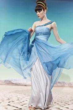 Sleeveless White Chiffon Party Summer Sundress 56589