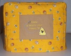 Honey Bee Toaster Cover by PatsysPatchwork on Etsy, $18.00
