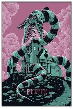 Freakin sweet Beetlejuice poster by Ken Taylor. http://collider.com/ken-taylor-watchmen-poster-metropolis-poster-mondo/