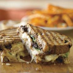 Maple-Black Pepper Chicken And Camembert Melt With Matchstick Fries ...