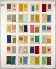 William Kentridge, Gash Gold, Vermilion, 2012, Drawing: Watercolour and pastel on book pages