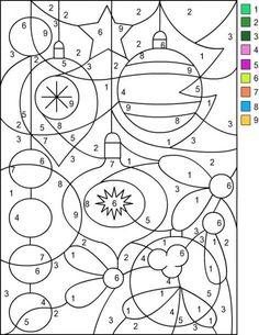 Christmas Coloring Printable Code Worksheets