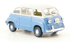 Fiat 600 Multipla blue white 1967 Norev diecast model car 1/43