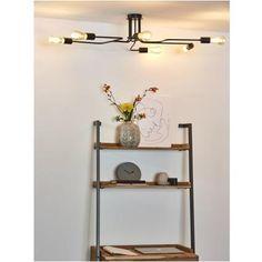 Lucide plafondlamp Lester zwart 100cm 6x40W
