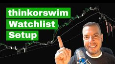 How to setup a Watchlist in Thinkorswim  📈