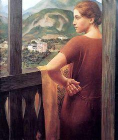Ubaldo Oppi - Donna alla finestra (Woman At The Window), 1921  (via fakevintage)