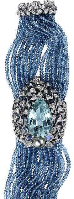 Best Diamond Bracelets : Cartier collection bracelet with aquamarine, aquamarine beads, moonstones, Tahitian pearl and diamonds High Jewelry, Bling Jewelry, Jewelry Accessories, Vintage Jewelry, Jewelry Design, Vintage Brooches, Silver Jewelry, Cartier Bracelet, Cartier Jewelry