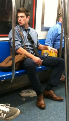 a creepily-taken photo.. commuter style