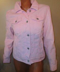 GAP Corduroy Trucker Sherpa Lined Jacket Women Pink Jean Style Cotton 2008 SZ M #GAP #BasicJacket #Outdoor