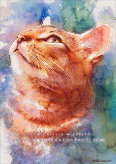 Cat Watercolors by Aurora Wienhold | Cuded Illuminate my world