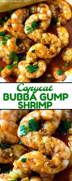 Gump Copycat Shrimp Copycat Bubba Gump Shrimp can be ready in under 20 minutes! via Bubba Gump Shrimp can be ready in under 20 minutes! Pork Rib Recipes, Fish Recipes, Seafood Recipes, Cooking Recipes, Healthy Recipes, Grilled Shrimp Recipes, Cooking 101, Skinny Recipes, Copycat Recipes