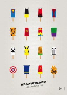 Superhero Ice Pops | By: chungkong, via Abduzeedo