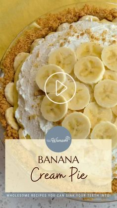 Pie Recipes, Dessert Recipes, Cooking Recipes, Summer Desserts, Easy Desserts, Drink Recipe Book, Holiday Snacks, Party Dishes, Banana Cream