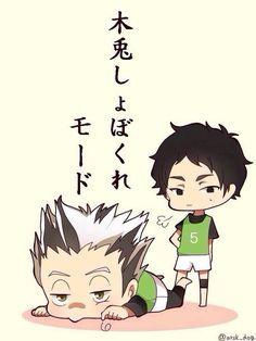 Akaashi & Bokuto | Haikyuu!! #anime #chibi ハイキュー!!