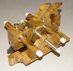 Love the brass on this Jim Leamy woodworking Plough Planes