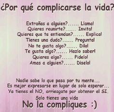 No te compliques la vida