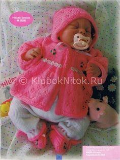 Комплекты для новорожденных девочек | Вязание для детей | Вязание спицами и крючком. Схемы вязания.